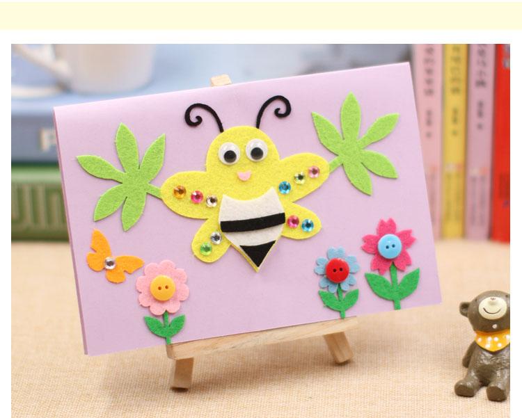 新年贺卡diy手工制作材料包 幼儿园儿童立体粘贴画创意春节日卡片_7折