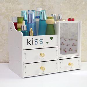 桌面化妆品收纳盒整理盒家用简约抽屉式梳妆台化妆盒护肤品置物架