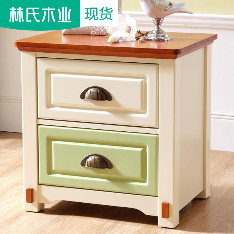 美式乡村小床头柜简约板式收纳储物柜田园卧室迷你床头桌子AW1B