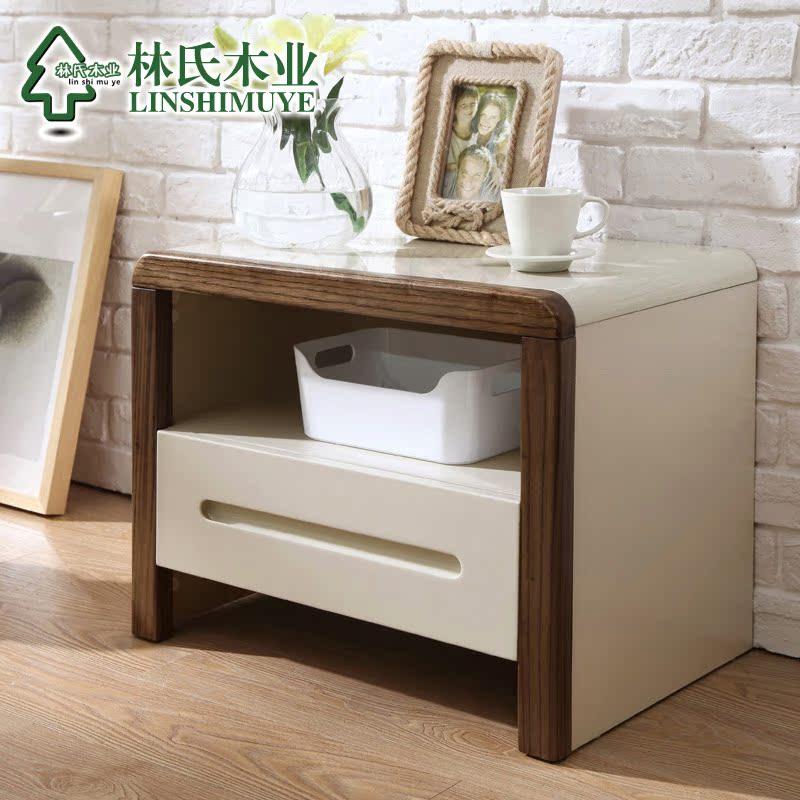林氏木业北欧风格床1.8米高箱床储物双人床1.5主卧床实木框床BA3A产品展示图3