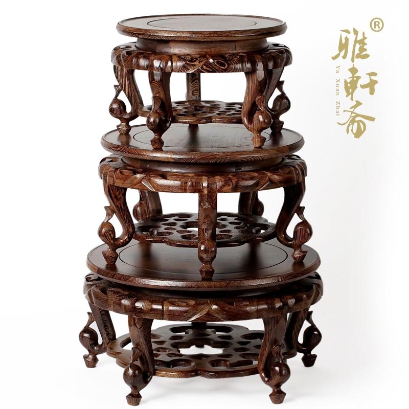 雅轩斋红木盆景架子雕花鱼缸架2013072501