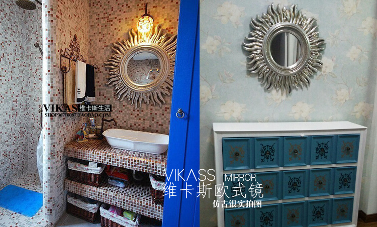 欧式太阳镜壁挂镜子拍摄道具店面装修装饰品家居摆设
