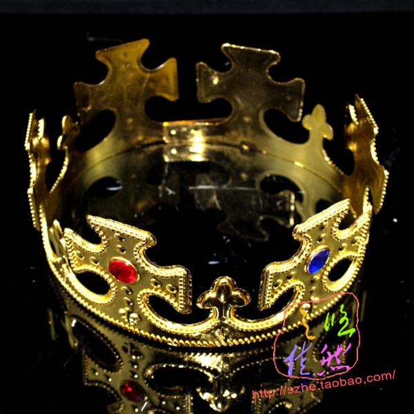 皇冠王冠国王皇后公主头饰扮演舞蹈万圣节派对舞会装扮化妆道具