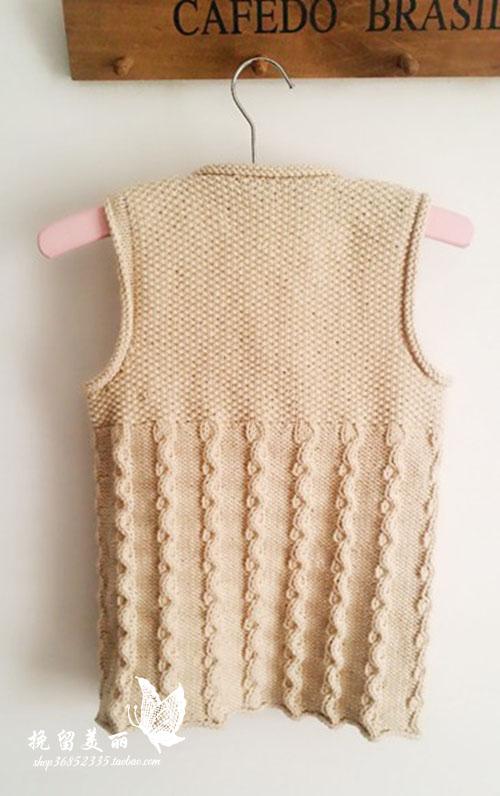 纯手工毛衣编织毛线背心 儿童马夹 男童女童