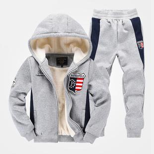 男童冬装套装2017新款男孩13儿童青少年外套10中大童男装12-15岁