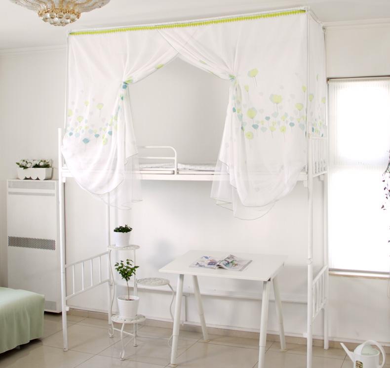 可意大学生宿舍床幔寝室床帘上铺上下铺三面加花纱双层蚊帐式20款图片