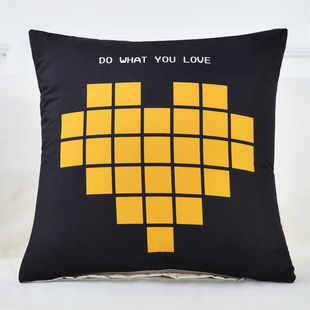 北欧抱枕沙发靠垫汽车护腰靠垫办公室午休靠枕床头靠背套腰枕垫芯