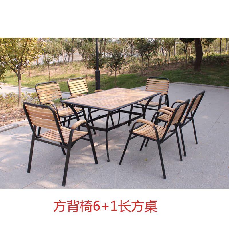Цвет: Квадрат назад стулья 6+1 длинный квадратный стол