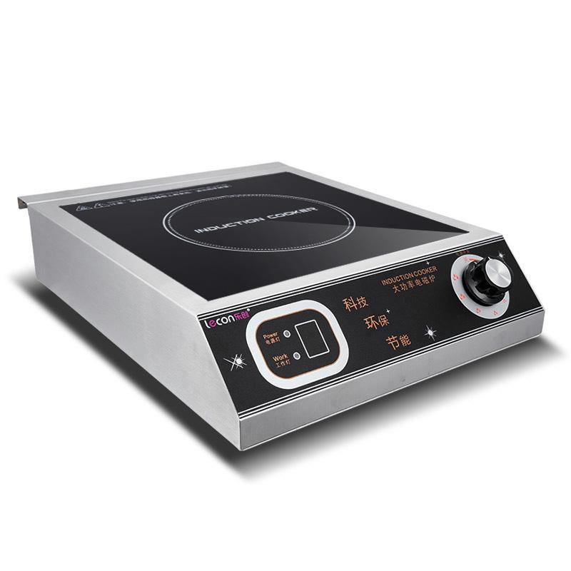 lecon-乐创 LC-L16电磁炉大功率3500W不锈钢食堂灶具商用厨房设备