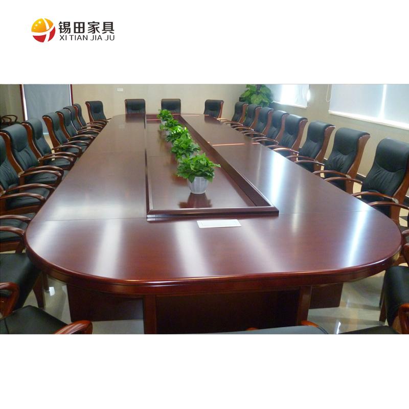 锡田办公家具实木皮油漆大型会议桌XT-BSHYZ-018