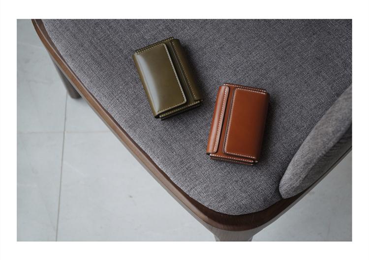 白馬手造  手工制作皮具 卡包/錢包/名片包 日本新禧馬臀皮
