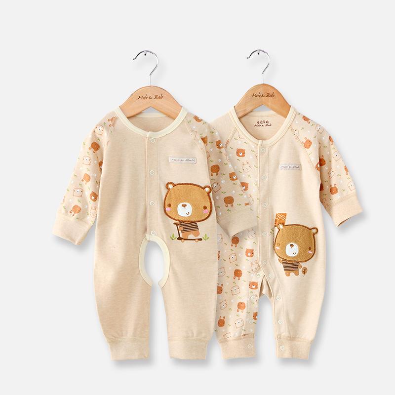 婴儿连体衣春秋纯棉哈衣爬服薄彩棉睡衣冬季男女宝宝新生婴儿衣服产品展示图3