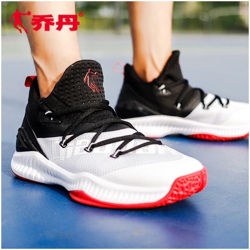乔丹男鞋篮球鞋飞人2018新款高帮透气正品黑白战靴实战耐磨运动鞋