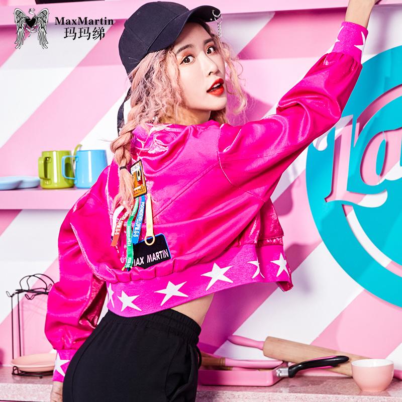 玛玛绨短外套秋装女2018新款韩版港风修身显瘦性感时尚潮棒球夹克