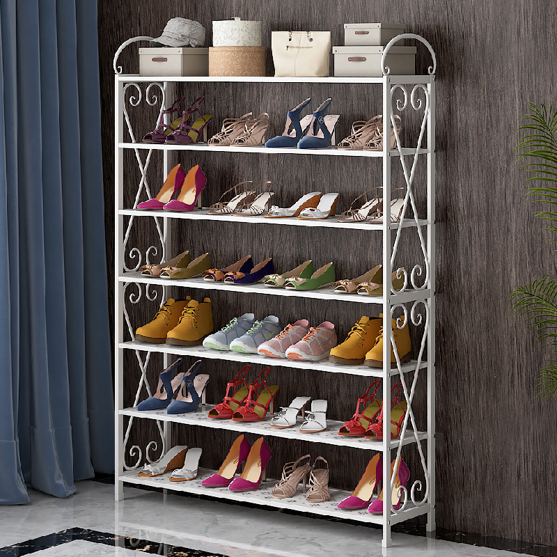 Simple shoe rack home economic dormitory dustproof shoe cabinet space assembly home door small shoe rack special offer