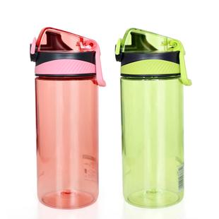 茶花大容量水杯塑料水杯太空杯运动旅行杯子便携防漏带盖杯子塑料