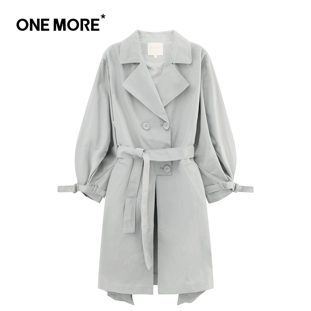 ONE MORE2018新款灯笼袖风衣11BE810228