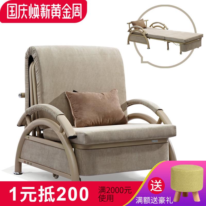 书房沙发床小户型多功能布艺沙发单人沙发床可折叠拆洗午休床简易