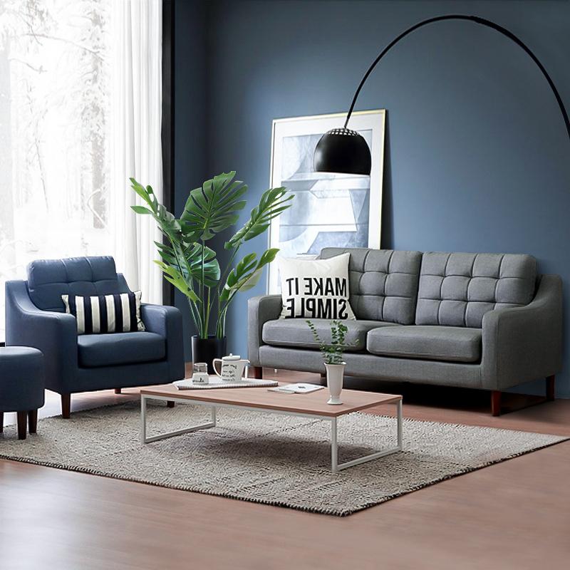 现代简约布艺沙发组合办公小户型沙发商务休闲三人座办公整装家具