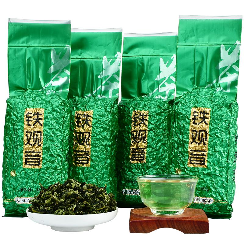 买1送3 安溪 铁观音 茶叶 新茶秋茶浓香型乌龙茶 袋装散装共500g
