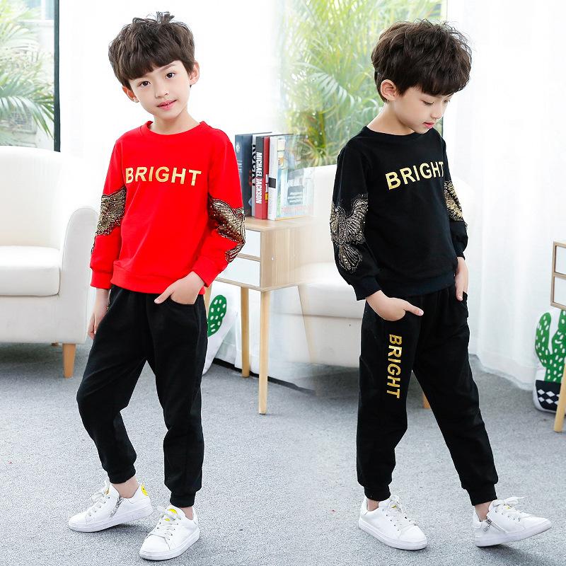 男童套装儿童长袖韩版童装男中大童纯棉两件套秋季运动服37