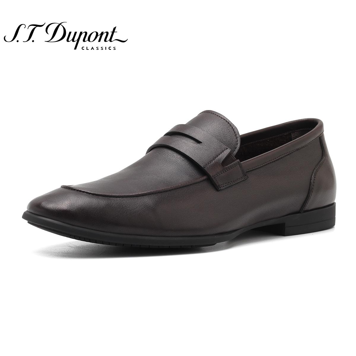 S.T. Dupont-都彭尖头商务皮鞋 舒适套脚休闲男鞋包邮 G22249420