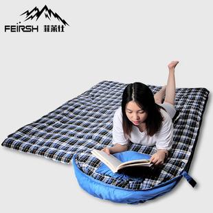 菲莱仕户外露营睡袋便携信封式秋冬四季保暖成人室内单人双人睡袋