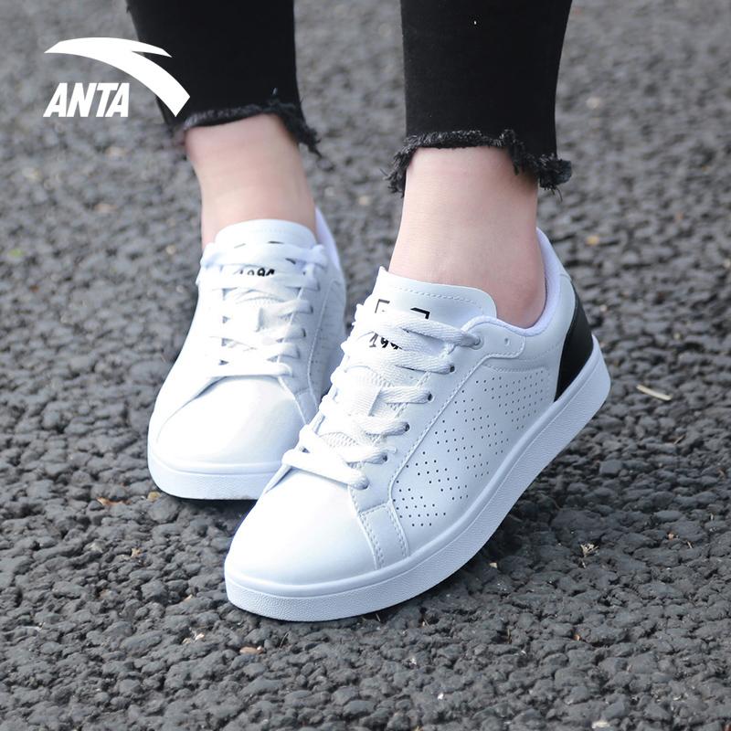 安踏板鞋女 2018秋季新款低帮女子休闲鞋小白鞋运动鞋白色滑板鞋