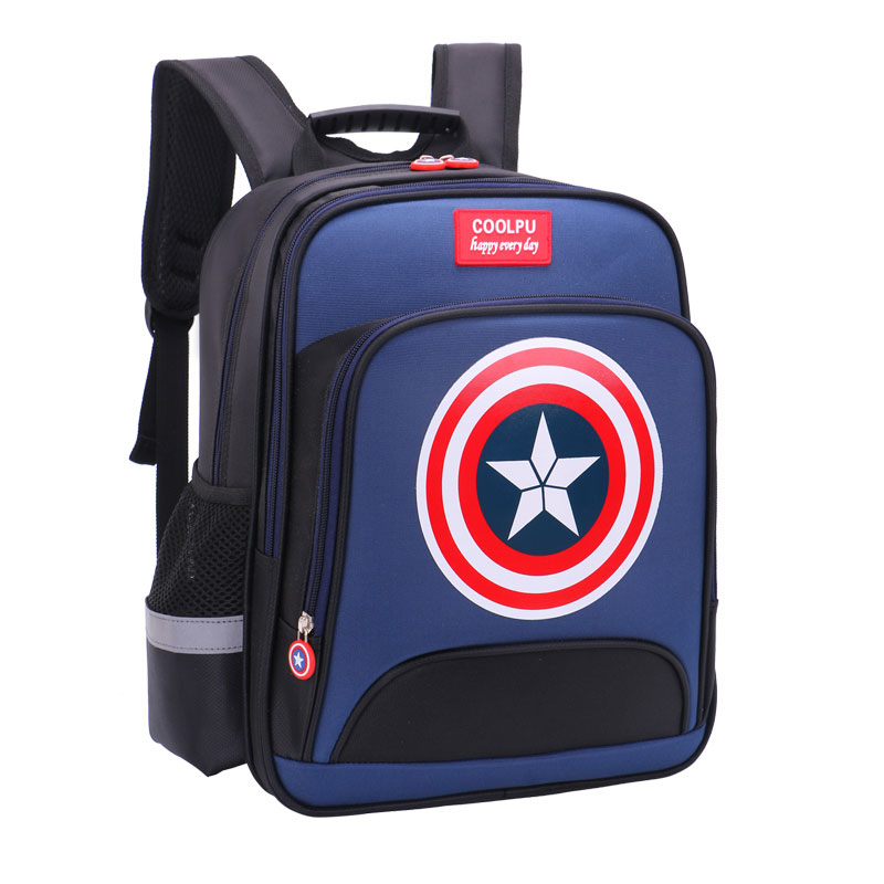 Schoolbag primary school boy 1-3-4-6 grade light ridged children's bag men's shoulders reduced burden boys backpack
