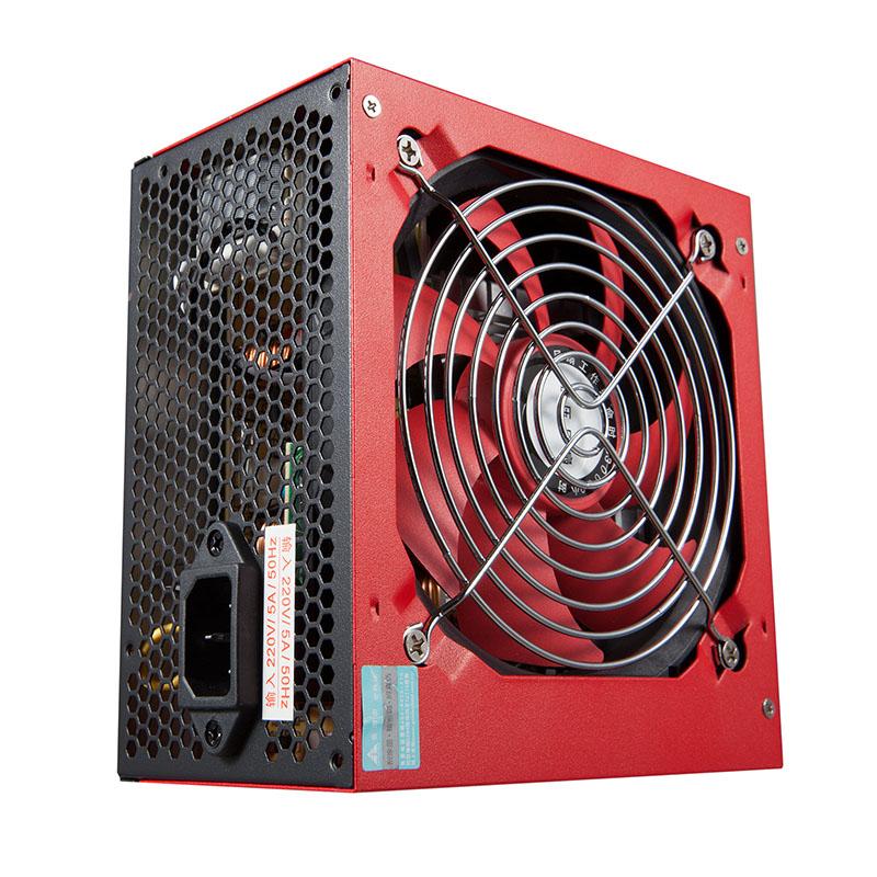 金河田智能芯500台式机电脑主机箱宽幅电源峰值400W额定300w静音