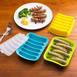 宝宝香肠模具 儿童辅食diy硅胶火腿肠肉肠模家用自制蒸香肠磨具