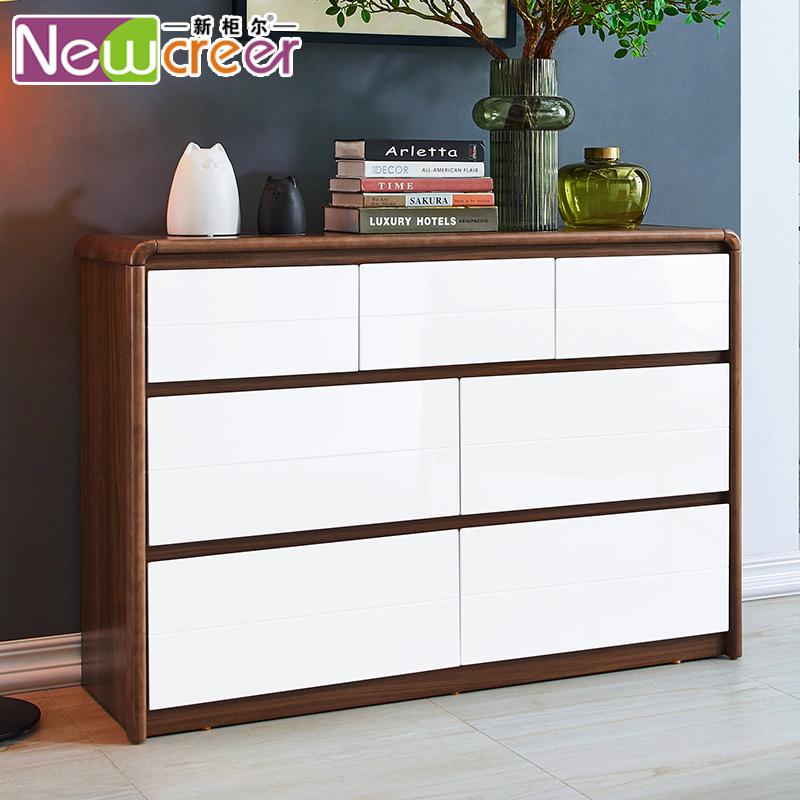 新柜尔家具 北欧卧室储物多用七斗柜 现代大容量抽屉柜房间电视柜