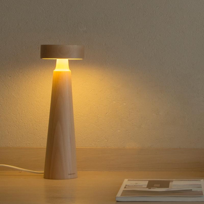 本来设计原木LED木质创意台灯