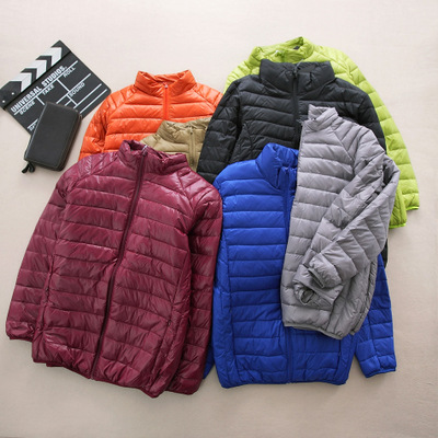BT brand men's 2017 autumn and winter short tide solid color thin warm collar down jacket coat 0021