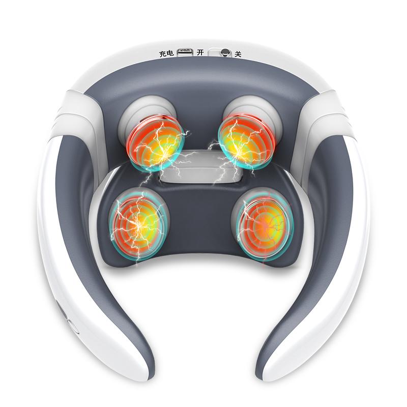颈椎按摩器肩颈家用电动多功能护颈仪脖子智能理疗肩部颈部按摩仪