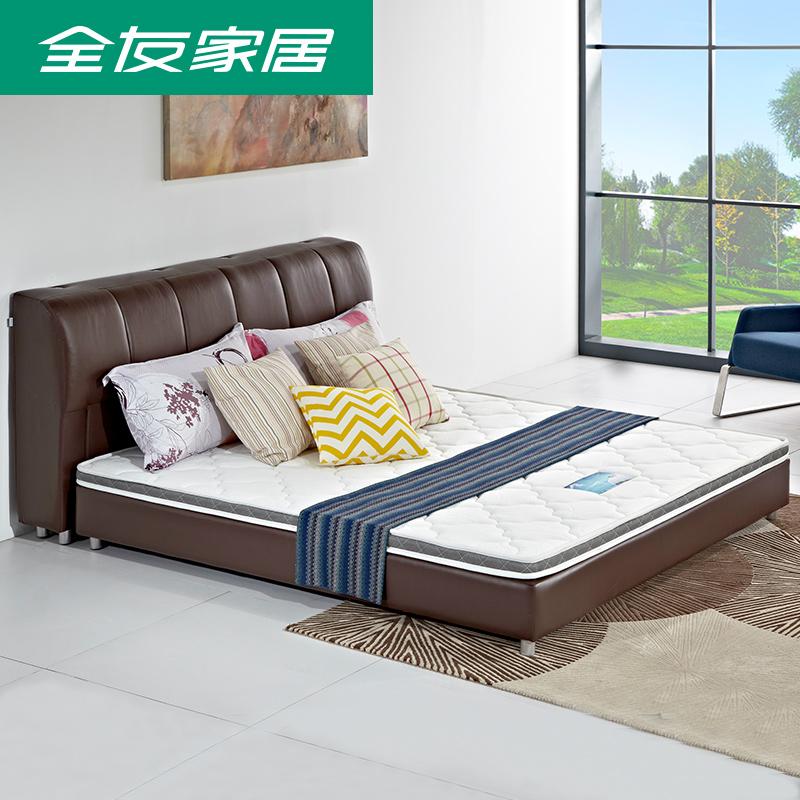 全友家私天然椰棕床垫薄 青少年1.2-1.5-1.8米护脊硬棕垫105055