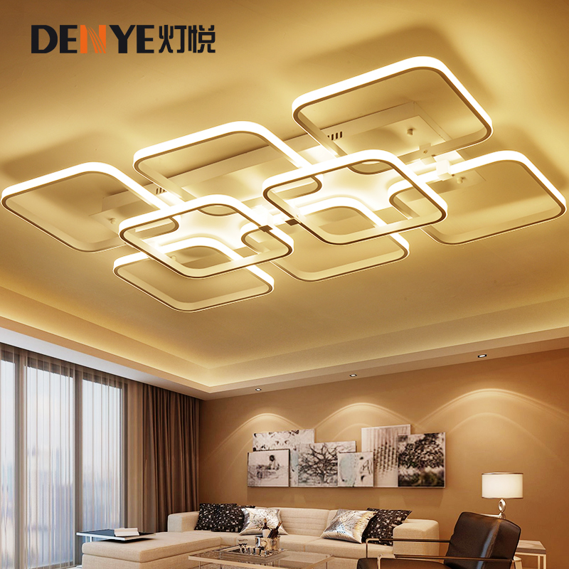 Simple modern LED living room lights personalized creative c...