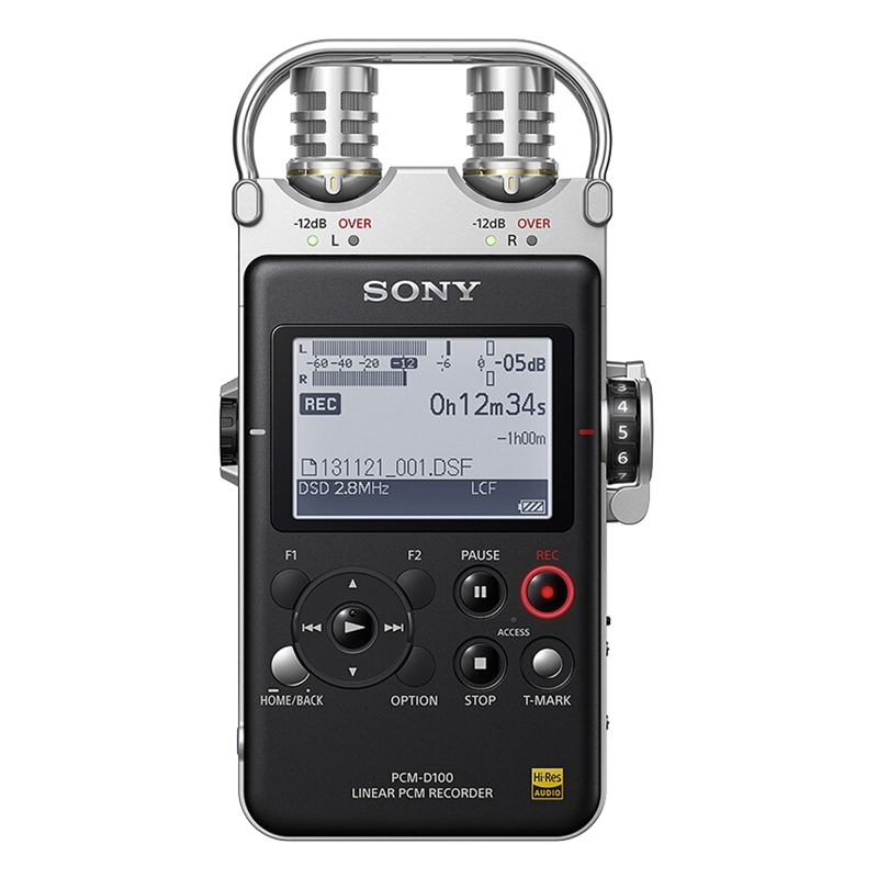 Sony-索尼录音笔 PCM-D100专业高清降噪dsd无损音乐mp3播放器吉他弹唱现场演奏采访录音官方授权专卖店正品