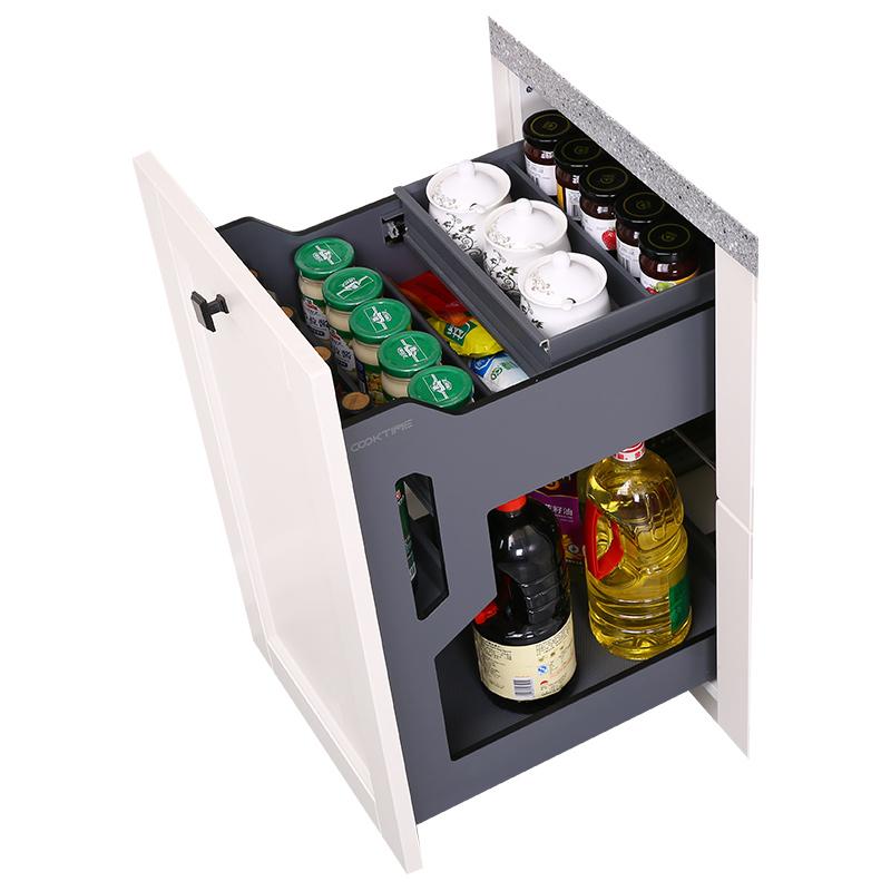 拉篮厨房橱柜抽屉式内置分隔盒调料品佐料收纳架厨房调味品置物架