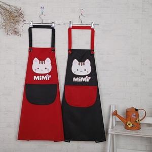 韩版围裙时尚卡通成人防水防油防污厨房咖啡厅奶茶店可爱围裙包邮