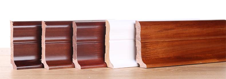 浩邦纯实木锁扣地暖地热地板专用踢脚线 平面/仿古原木烤漆脚线