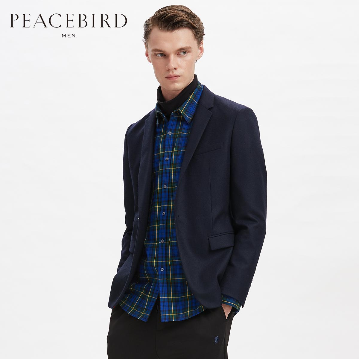 【商场同款】太平鸟男装 冬季新款韩版修身西装男士西服B1BA84X05