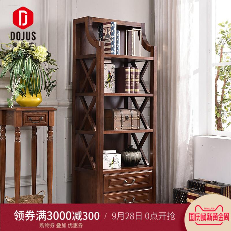 美式实木书柜隔断柜置物柜客厅酒柜装饰柜书架书橱餐边柜角柜厅柜