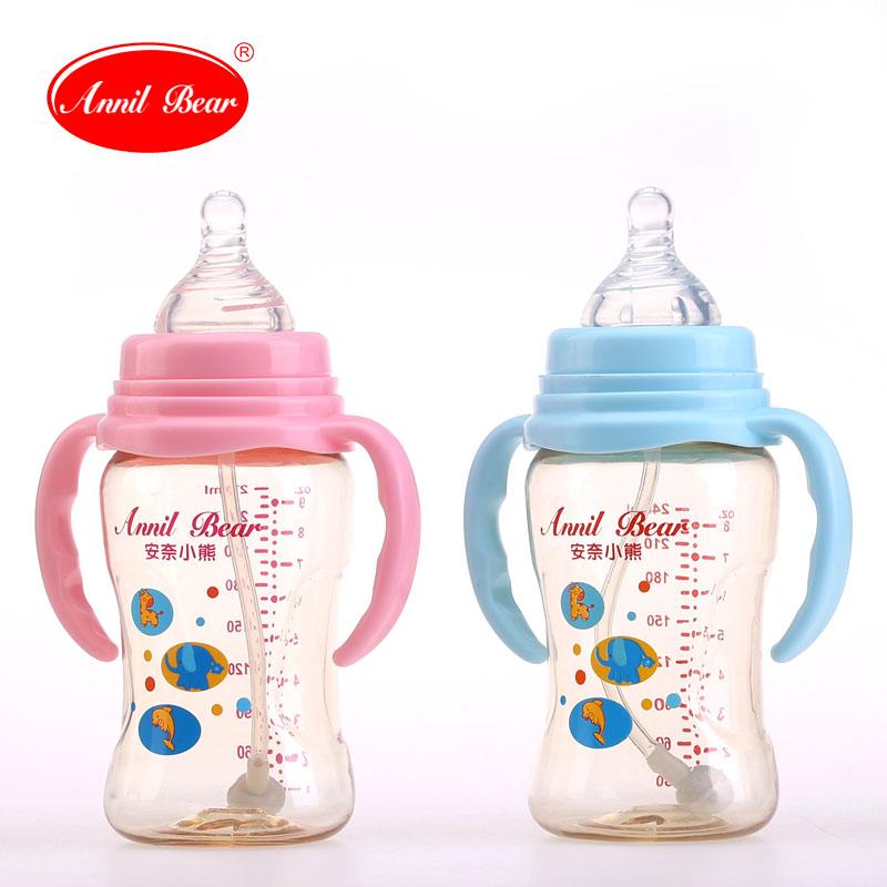 安奈小熊新生儿奶瓶PPSU宽口径儿童水杯