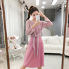 2018 Autumn New Korean Version Of The Sweater Dress Two-Piece