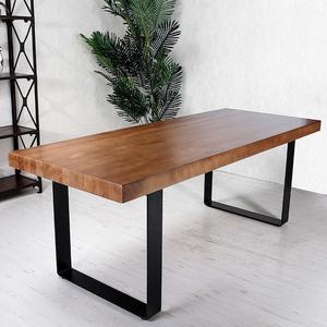 简约现代loft铁艺实木餐桌长桌写字电脑办公桌书桌工作台会议...