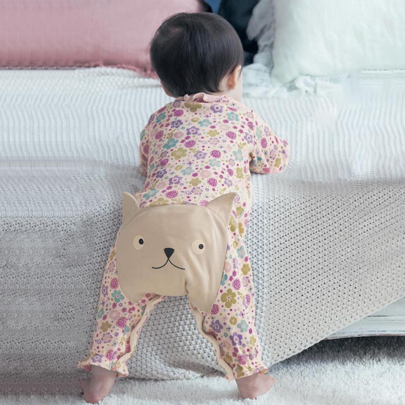日本千趣会棉质婴儿连体衣薄款蛙式卡通宝宝长袖春秋大pp裤B97027