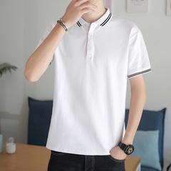 男士短袖t恤夏季韩版潮流男装半袖polo衫潮牌立领体恤ins打底衫男
