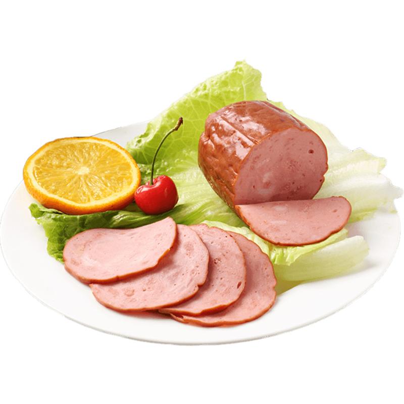 得利斯圆火腿500*2粗超大肉特产香肠烟熏早餐即食生吃地道面包