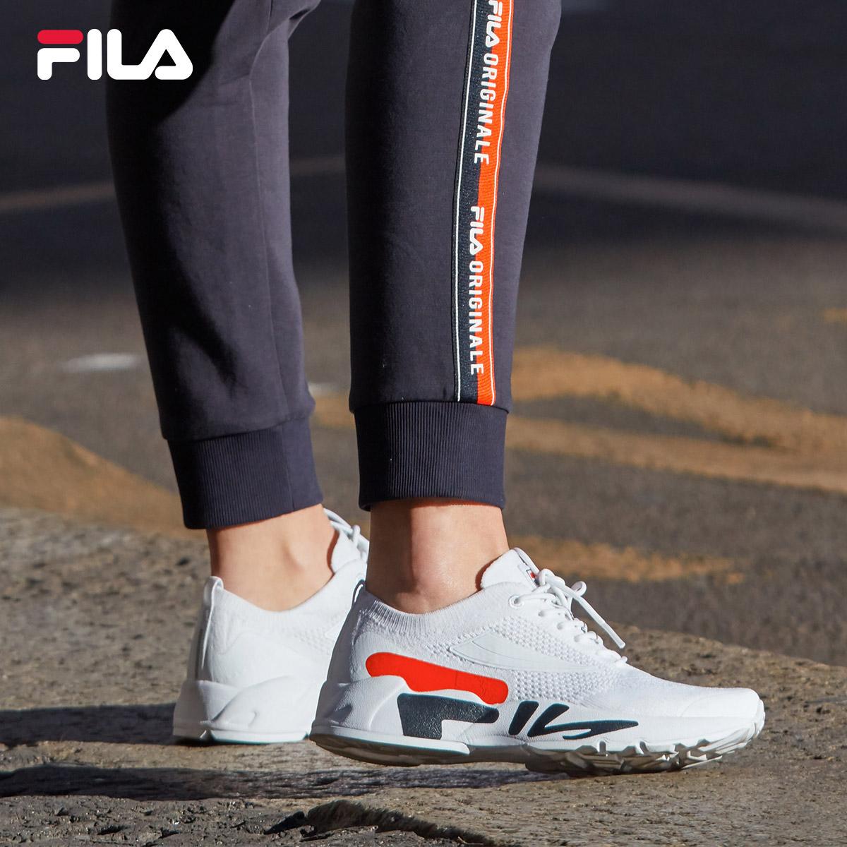 FILA斐乐女跑步鞋2018秋季新款耐磨网面透气综训鞋潮鞋运动鞋女